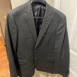 Gray herringbone sport coat